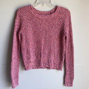 American Eagle pink multi knit sweater XS